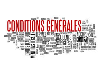 """Nuage de Tags """"CONDITIONS GENERALES"""" (vente contrat utilisation)"""