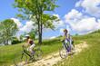 mit dem Fahrrad ins Grüne