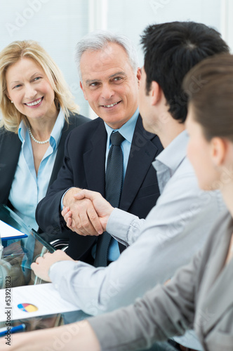 Handshake Between Two Businesspeople