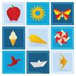 Origami summer symbols