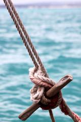 Dhow Sail Boat Rigging In Zanzibar