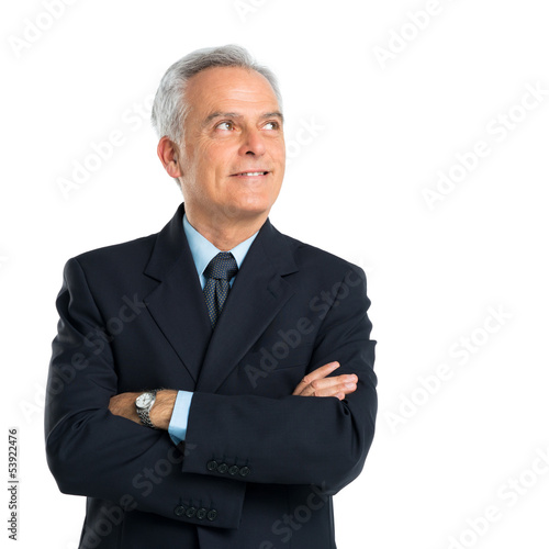 Portrait Of Pensive Senior Businessman