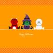 Halloween Devil, Witch & Mummy Dots