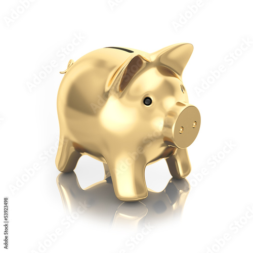 gold moneybox piggy
