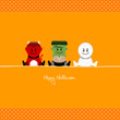 Halloween Devil, Frankenstein´s Monster & Mummy Dots