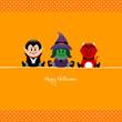 Halloween Vampire, Witch & Devil Dots