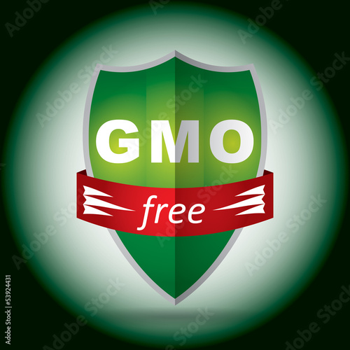 free genetically modifies plants sign - agricultural concept