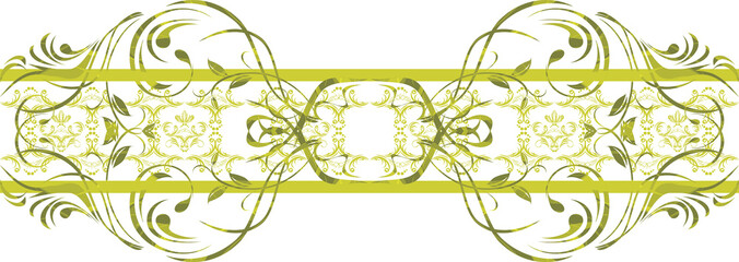 Seamless ornamental green border
