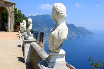 Terrasse de l'infini à Ravello - Cimbrone - Italie