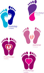 Footsteps Icon Set