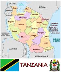 Tanzania Africa national emblem map symbol motto