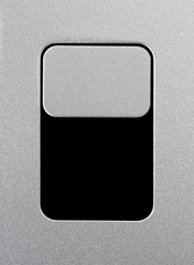 Silver unlock slider close-up