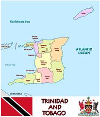 Trinidad Tobago Caribbean national emblem map symbol motto