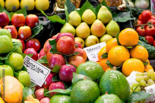 variety of fruits at the market