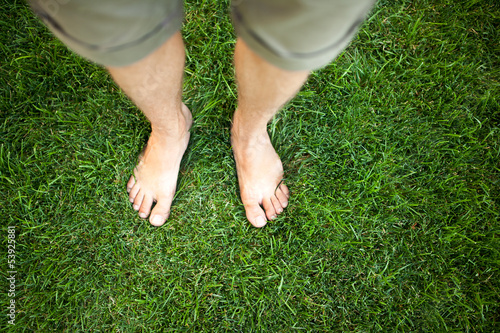 Feet relaxing in the grass
