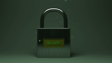Secure Lock with Data Particles