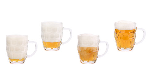 Decreasing the foam in a mug of beer