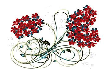 arabesques rouges