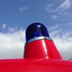 Altmodisches Blaulicht einer Feuerwehr