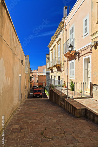 Sardinia - street and walls in Carloforte