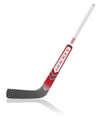 hockey stick for goalie vector illustration