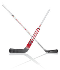 hockey sticks vector illustration