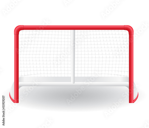 gates goalie for the game of hockey vector illustration