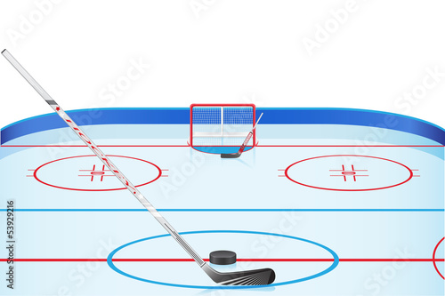 hockey stadium vector illustration