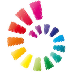 Farbkreis - Logo - Spirale - Muschel