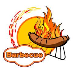 Barbecue sticker design