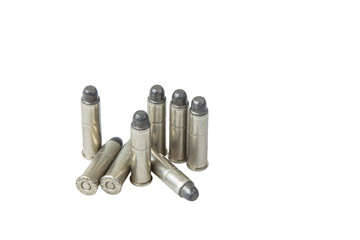 Silver Bullets Vertical Isolated on White