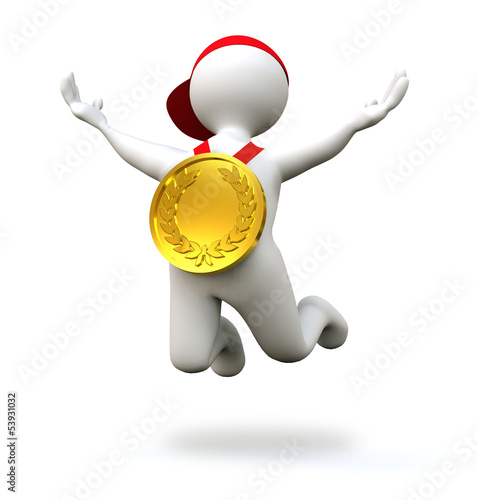 3D Man gold medal