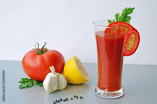 Bloody Mary tomato juice cocktail