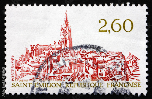 Postage stamp France 1981 View of Saint-Emilion, Gironde