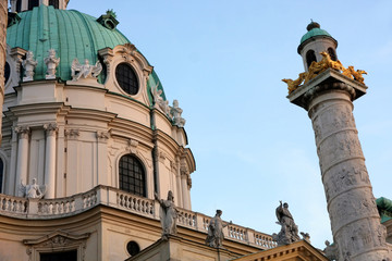 Karlskirche Church in Vienna, Austria