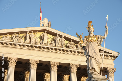 The Austrian Parliament in Vienna, Austria