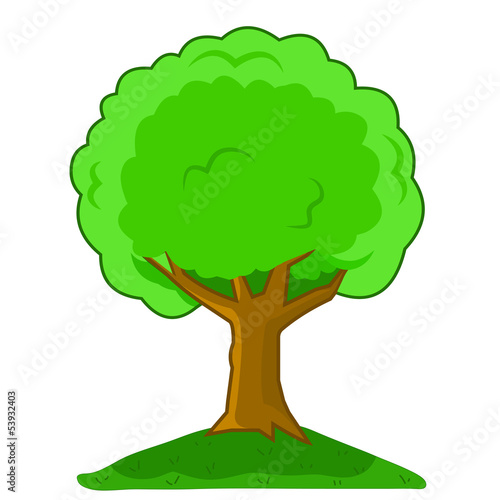 Vector illustration Cartoon tree isolated