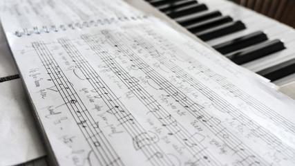 Handwritten music sheet
