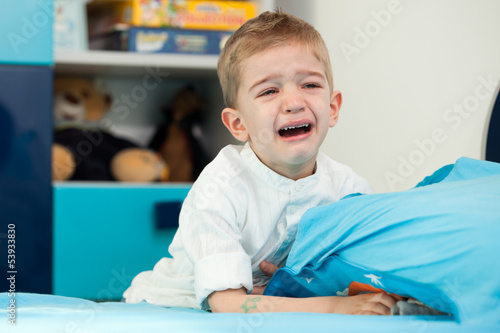 kid at home crying
