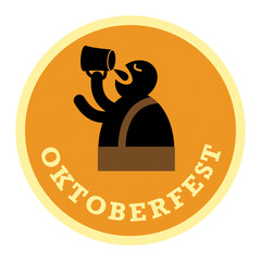 Oktoberfest Beer label, vector illustration