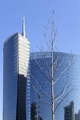Glass skyscraper in Milan