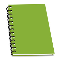 vector stack of ring binder book or notebook isolated