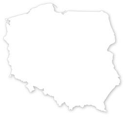 Simple vector map of Poland.