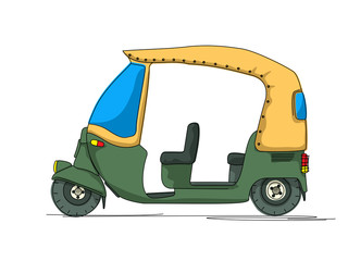Rickshaw cartoon