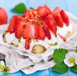 frisches Erdbeerdessert