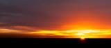 Sunset at the horizon