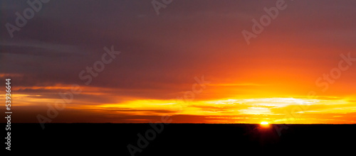 Plexiglas Zonsondergang Sunset at the horizon