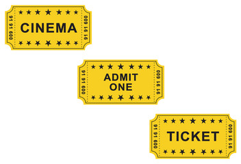 Vintage yellow tickets