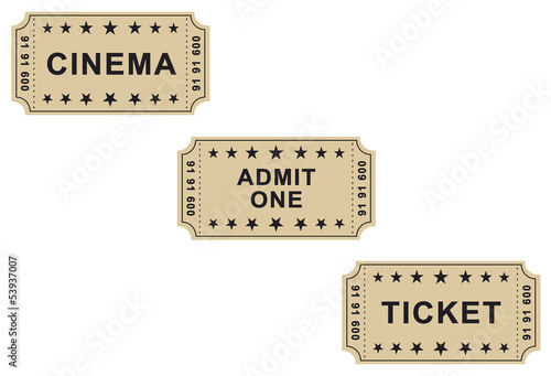 Vintage brown tickets