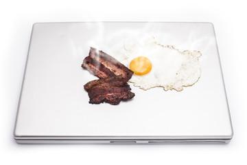 overheated notebook